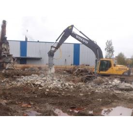 Демонтаж фундамента здания