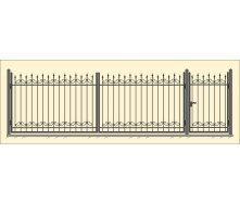Кованый забор модель С-02 1600 мм