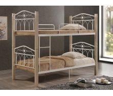 Кровать Domini Design Миранда двухъярусная 960x2150x1780 мм крем