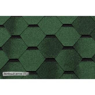 Битумная черепица RoofShield Премиум Стандарт 7 зеленый антик