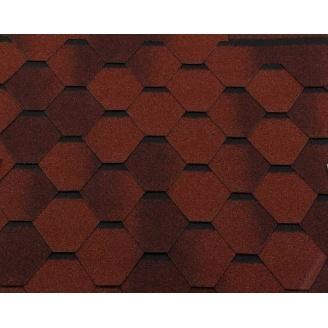 Битумная черепица RoofShield Премиум Стандарт 10 кирпично-красный антик