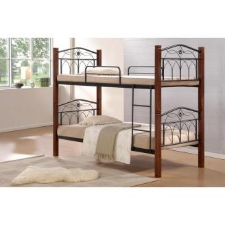 Кровать Domini Design Миранда двухъярусная 960x2150x1780 мм каштан