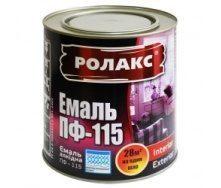 Фарба емалева Ролакс ПФ-115 чорна 0,9 кг