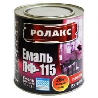 Фарба емалева Ролакс ПФ-115 2,8 кг чорна