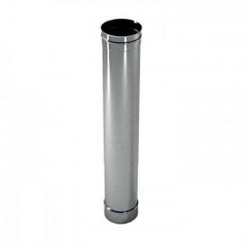 Труба дымоходная с нержавеющей стали одностенная 1х130 мм 1 м