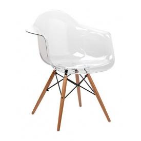 Кресло Domini Прайз 625x630x810 мм ПЛ прозрачный