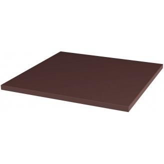 Напольная клинкерная базовая гладкая плитка Paradyz Natural BROWN 30x30 см