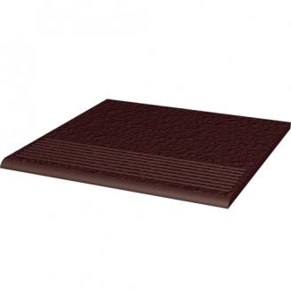 Ступень рельефная прямая структурная Paradyz Natural BROWN DURO 30x30 см