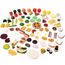 Набор овощей и фруктов для игр 101 шт