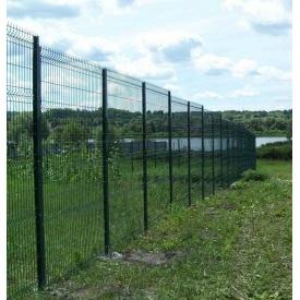 Забор из сетки с ПВХ покрытием 1,5 м