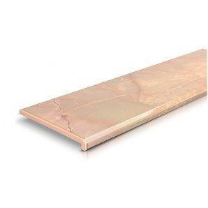 Підвіконня Danke Onyx 700 мм 2 капіноса рожевий онікс
