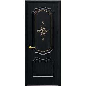 Двери межкомнатные Новый Стиль ИНТЕРА Рока с гравировкой GOLD 34х2000 мм венге