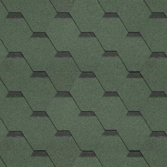 Битумная черепица Shinglas Ультра Самба 3,3х317х1000 мм зеленый
