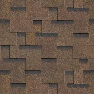 Битумная черепица Shinglas Ультра Джайв 3,3х317х1000 мм коричневый