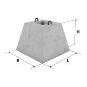Стакан бетонного паркану ЗБВ Ковальська ФО-2 550х950 мм