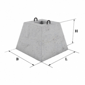 Стакан бетонного забора ЖБИ Ковальская ФО-2 550х950 мм