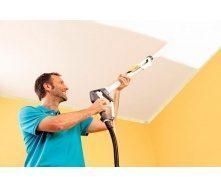 Покраска обоев на потолке водоэмульсионной краской