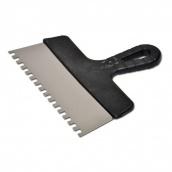 Шпатель з пластмасовою ручкою, зуб 8х8 мм (250 мм)