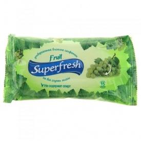 Влажные салфетки Superfresh Fruit 15 шт