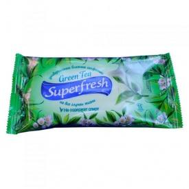 Влажные салфетки Superfresh Зелений чай 15 шт
