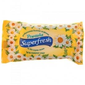 Влажные салфетки Superfresh Ромашка 15 шт