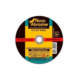 Диск отрезной по металлу NovoAbrasive 180x1,6x22,23 мм