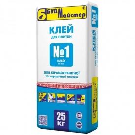 Клей для плитки БудМайстер КЛЕЙ №1 25 кг