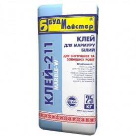 Клей для плитки на белом цементе стандартный БудМайстер КЛЕЙ-211 25 кг