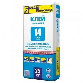 Клей для плитки эластифицированный БудМайстер КЛЕЙ-14 25 кг
