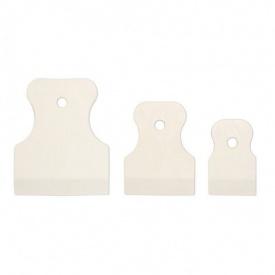 Набор шпателей резиновых белых 3 штуки 40, 60 и 80 мм