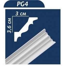 Плинтус потолочный Premium Decor PG4 2,00 м 36x30