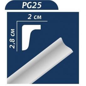 Плинтус потолочный Premium Decor PG 25 (МО) 28x20 мм 2 м