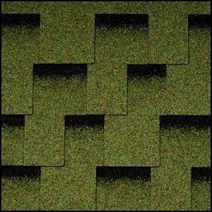 Битумная черепица Icopal Plano Claro 1000*320 мм зеленый