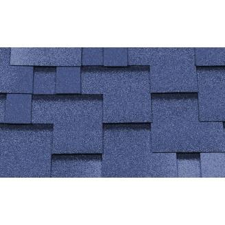 Битумная черепица RoofShield Премиум Модерн 25 голубой