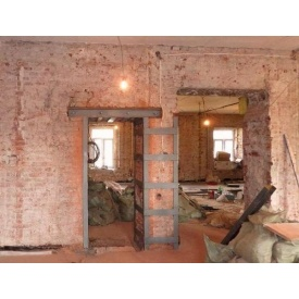 Демонтаж дверного проема в кирпичной стене от 30 до 45 см
