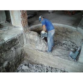 Демонтаж железобетонных стен от 5 до 10 см