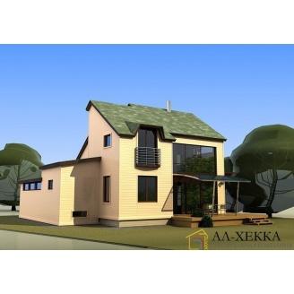 Строительство дома по каркасно-панельной технологии с кровлей из битумной черепицы под заказ