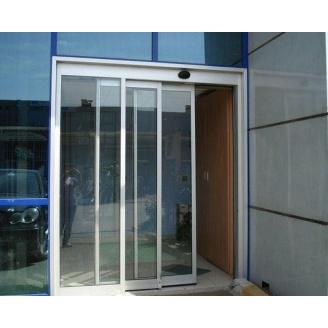 Установка телескопических входных дверей под заказ