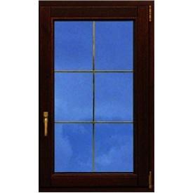 Ламинированое окно Rehau со шпросами 700x1500 мм