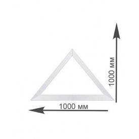 Треугольное окно Rehau 1000х1000 мм