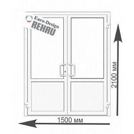 Двері вхідні металопластикові Rehau Euro 60 мм