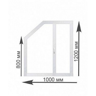 Трапециевидное окно Rehau 1000х1200 мм