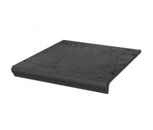 Клинкерная плитка Paradyz Semir Grafit ступень с капиносом прямая структурная 30х33 см