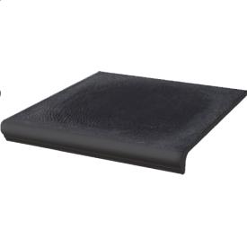 Клинкерная ступень Paradyz Bazalto с капиносом прямая 30х33 см grafit
