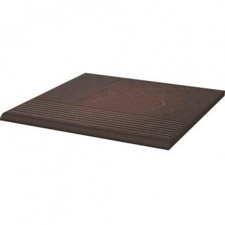 Клинкерная плитка Paradyz Semir Rosa ступень рельефная prosta strukturalna 30х30 см
