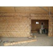 Демонтаж деревянной перегородки из дранки