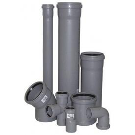 Труба внутрішня каналізаційна ПВХ 50х2,2 мм 0,315 м сіра