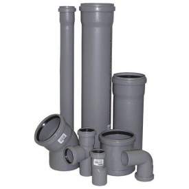 Труба внутренняя канализационная ПВХ 110х2,2 мм 1 м серая