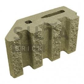 Блок декоративный Силта-Брик Цветной 25-4 канелюрный угловой 390х190х140 мм