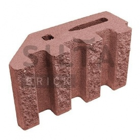 Блок декоративный Силта-Брик Цветной 24 канелюрный угловой 390х190х140 мм